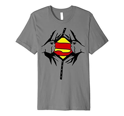 Halloween Superhero Kostüm Mann Frau Kinder T Shirt