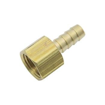 10mm G/én/érique Laiton BSP Raccord Coupleur // Adaptateur 1//4 Femelle BSPP x3//8 paquet de 5 Tuyau Barbillon P/étrole Gaz Eau