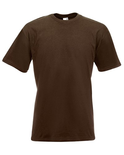 Fruit of the Loom - Heavy T-Shirt 'Super Premium T' L,chocolate L,Chocolate (T-shirt Loom Herren Crew)