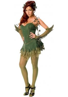 llian Ladies Fancy Dress Halloween Costume Outfit (XS UK 6-8 (Europe 34-36)) (Poison Ivy Outfit)