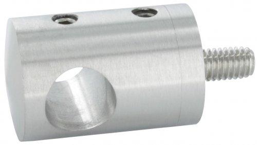 Querstabhalter Anschluss flach, für Stab ø 14 mm, aus V2A (14mm Gewinde-stab)