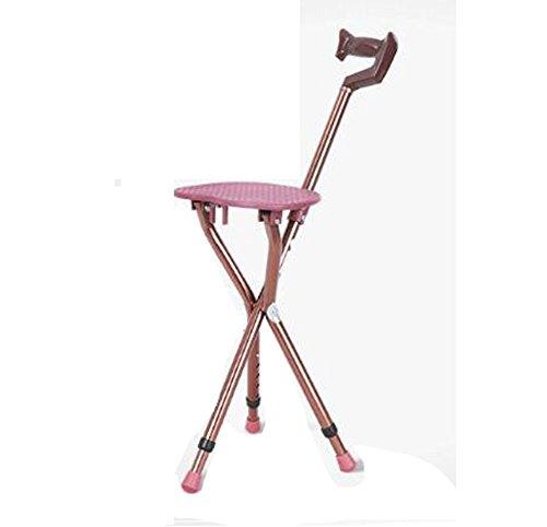 Q&F Walking stock sitz massagesessel Lightweight Höhenverstellbar Tragbares stativ zuschauer sitz-A