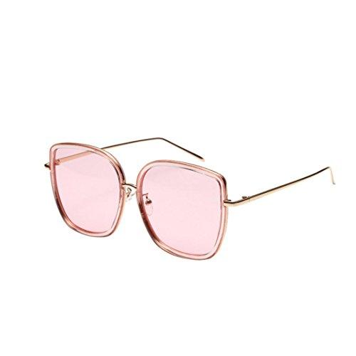 Trada Sonnenbrillen, Fashion Neutral Large Frame Sonnenbrille Sonnenbrille Integrierte UV-Brille Damenbrillen Herrenbrillen Frauen Retro Vintage Brille Nachtsichtbrille Eyewear Travel (Rosa)