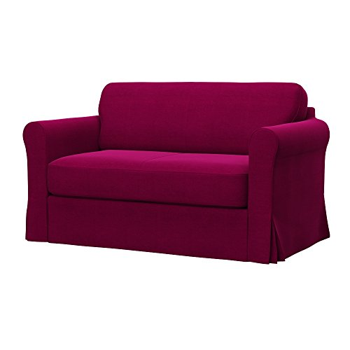 Soferia - IKEA HAGALUND Funda para sofá Cama, Elegance Dark Pink