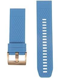 NICERIO Compatible avec Les Montres Garmin Fenix 5X 3 3HR - Bracelet de Montre en Silicone Bracelet de Montre de Remplacement Bracelet pour Bracelet - Bleu
