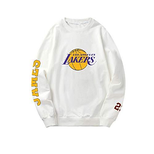 Lakers James Basketballpullover, Männer und Frauen, die ein langärmeliges Sweatshirt mit Rundhalsausschnitt trainieren, Dünner Abschnitt