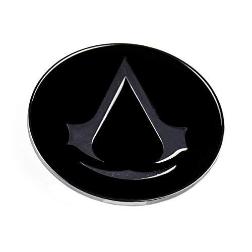 Assassin's Creed Gürtelschnalle Logo rund, grau (Gürtel Assassins Creed)