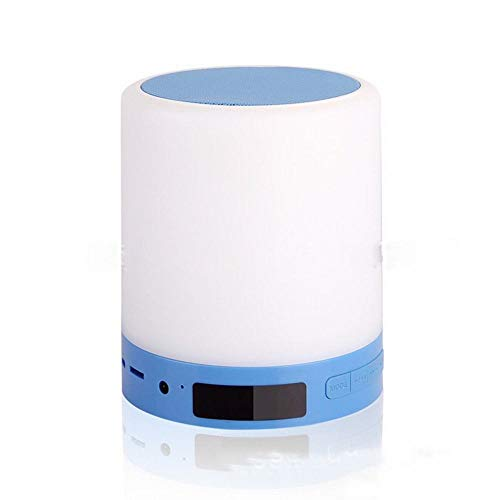 Touch Gerahmt (GZ Nachttischlampen-Fütterungslampe Bluetooth-Touch-Pat-Licht Schlafhilfe-Wecklicht Bluetooth-Lautsprecher-Story-Light,Blau,einundzwanzig)