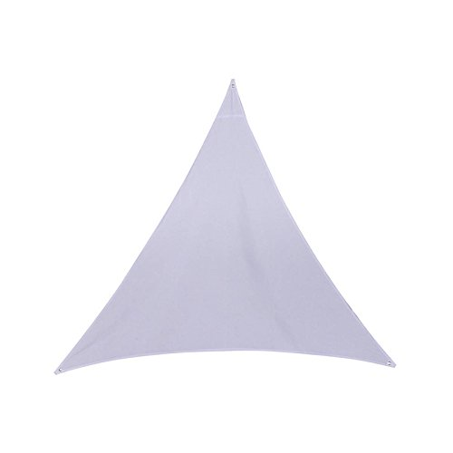 Tenda a vela, vela parasole impermeabile 3 x 3 x 3 m, per fare ombra nel vostro giardino, sulla vostra terrazza... - colore bianco