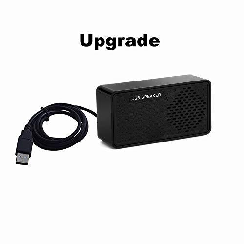 UKHONK Tragbarer USB-Mini-Lautsprecher mit lautem Stereoton, USB-Anschluss für Notebook, Laptop, PC, Zuhause, Außen, Reise, Kasse, Kompakt mit 2.0-System und mehr