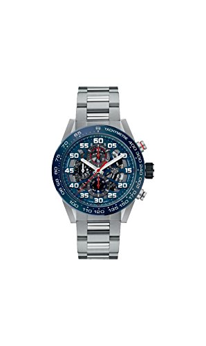 Tag Heuer Carrera Skeleton Blue Dial Automatic Mens Chronograph Watch CAR2A1K.BA0703