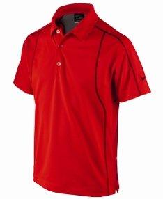 Nike Golf Kinder Dri-FIT Tiger Woods Polo Shirt in Challenge rot, Herren, neo Lime Black total Crimson - Tiger Woods Nike