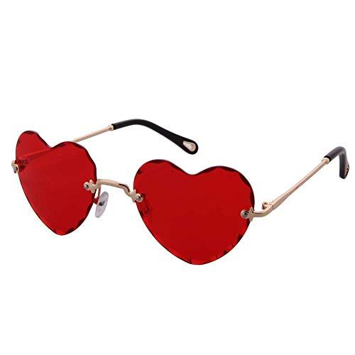 4b4d98e754 OGOBVCK Corazon en forma de gafas de sol de Moda Mujer Chica colorida  degradado gafas lentes