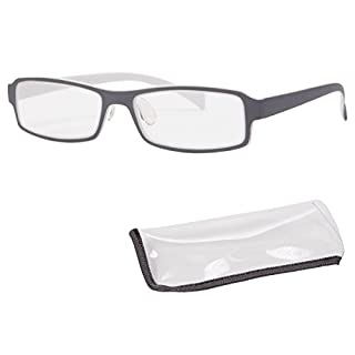 Alsino Lesebrille rechteckig Lesehilfe Augenoptik Brille Sehhilfe mit Stärke, DPT Stärke:+3.00;choisir:RG-162 gris