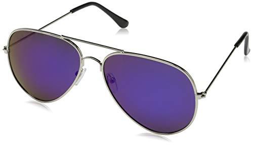Unisex Damen Herren Polarisierten polarized Silver Black Pilot-Stil Sonnenbrille  Brille  UV400 Protection MFAZ Morefaz Ltd