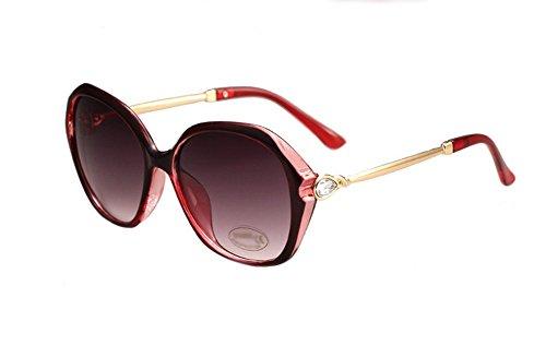 DaoRier Dark Objektiv Eyeware Sonnenbrille 100% UV-Schutz, Polykarbonat, rot, 152*58*138mm