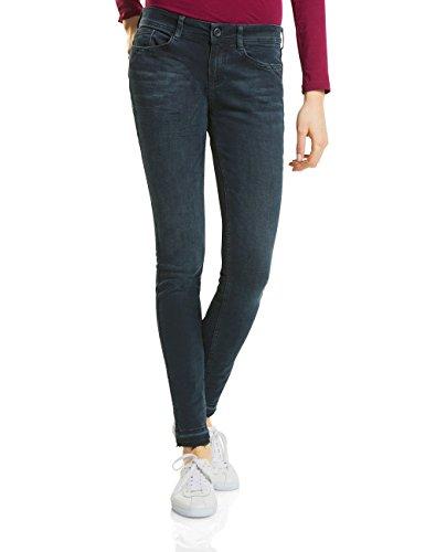 Street One Damen Slim Jeans 371156 York, Blau (Dark Blue Overdyed 11257), W34/L30