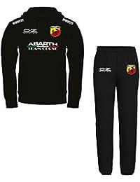 Tuta Felpata Abarth Team Corse Personalizzata - Felpa Nera con Cappuccio +  Pantalone 5fd547d7466b