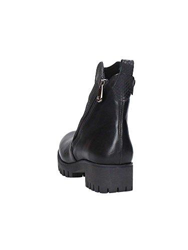 CAFè NOIR FC116 t. moro scarpe donna stivale tronchetto doppia zip Nero