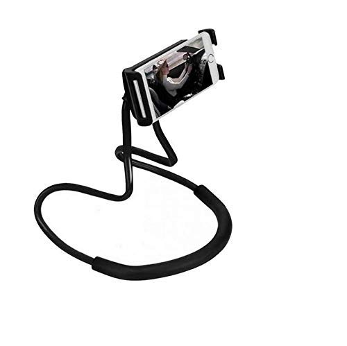 Cononics Adjustable Cell Phone Holder, Lazy Hanging on Neck Mobile Phone Stand, Flexible DIY Hand Free 360° Rotation Mounts