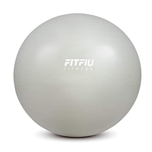 Fitfiu - AB0065 - Balón para pilates y yoga, color azul, 65 cm