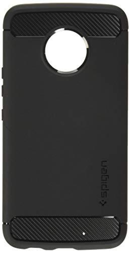 Spigen Moto X4 Hülle, [Rugged Armor] Karbon Erscheinungsbild [Schwarz] Elastisch Stylisch Soft Flex TPU Silikon Handyhülle Schutz vor Stürzen & Stößen Schutzhülle für Moto X4 Case Cover Black (M11CS22003)