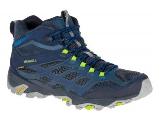 Merrell Mens Moab FST Mid GTX Goretex Waterproof Leather Walking Boots