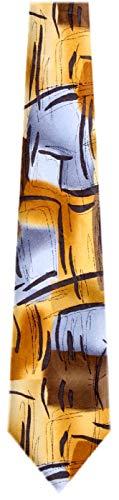 Jerry Garcia JG-7530 Designer Krawatte, Seide, Gelb -