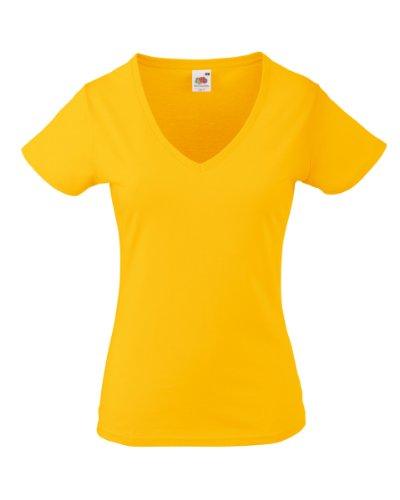 Fruit of the Loom - T-shirt -  Femme Jaune - sunflower