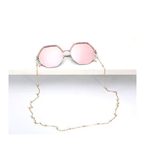 YONGYONG-Sunglasses Mit Kette Sonnenbrillen Net Red Street Shot Polarisierte Sonnenbrille Weibliche Anti-UV Seaside Koreanische Version der Flut (Farbe : Rosa)