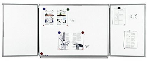Legamaster 7-100354 Whiteboard Klapptafel Professional, platzsparend durch 2 Tafelflügel, 90 x 120/240 cm