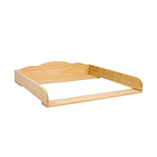 Puckdaddy Wickelaufsatz Wilhelm - 80x78x15 cm, Wickelauflage aus Holz in Natur, hochwertiger Wickeltischaufsatz passend für Kommoden, inkl. Montagematerial zur Wandbefestigung