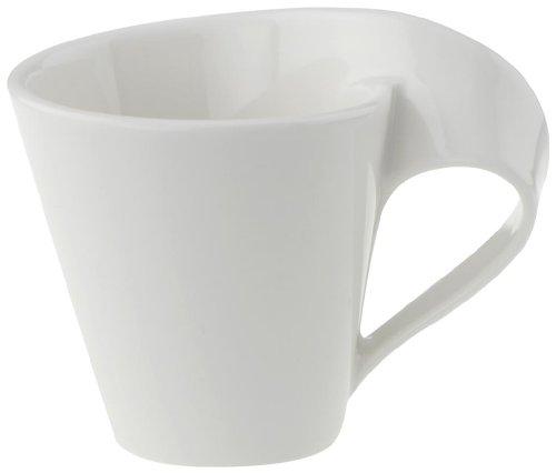 Villeroy & Boch NewWave Tasse à moka/expresso, 80 ml, Porcelaine Premium, Blanc