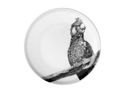Maxwell & Williams DX0382 Marini Ferlazzo Teller Parrot, aus Bone China Porzellan, Schwarz, Weiß, in Geschenkbox Weiß Bone China