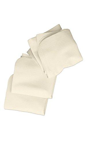 hessnatur Baby Mädchen und Jungen unisex Molton-Tuch 3er-Pack aus reiner Bio-Baumwolle natur 75X75