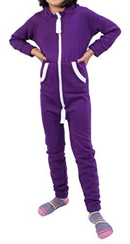Rock Creek Kinder Jumpsuits Overall Jogger Onesie Jumpsuit Anzug Sportanzug Pyjama Fleecejumpsuit Jungen Mädchen D-385 Violett 98-104