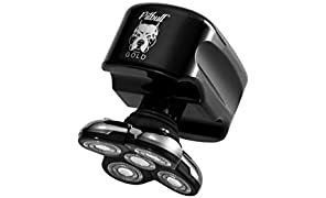 Skull Shaver Pitbull Gold Men's Electric Head Shaver Electric Razor for Head and Face EU Plug