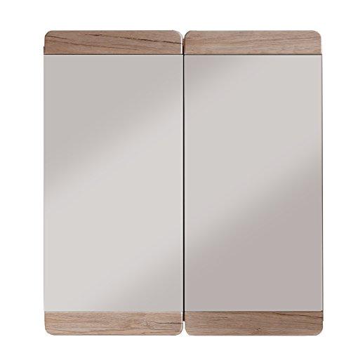 #trendteam smart living Badezimmer Spiegelschrank Spiegel Malea, 65 x 70 x 15 cm in Eiche San Remo Hell (Nb.) mit viel Stauraum#