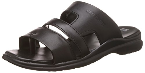 Redchief Men's Black Leather Sandals and Floaters - 7 UK/India (40.5 EU)(RC1331 001)  available at amazon for Rs.932