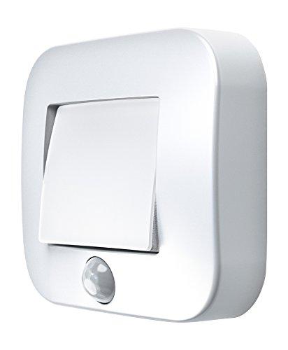(Osram LED Nightlux Hall Batteriebetriebene Leuchte, für innenanwendungen, Bewegungssensor, Tag-Nacht-Sensor, Kaltweiß, 84, 0 mm x 73, 0 mm x 22, 0 mm)