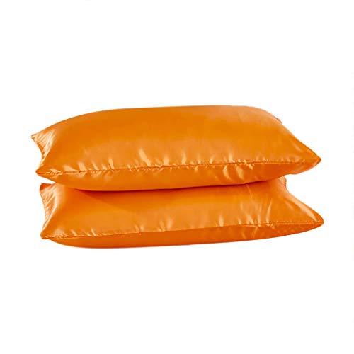 Hniunew_Möbel Boutique Bett Kissen Schlafkissen Bettwäsche Einfacher Kissenbezug Satin höhenverstellbares Kopfkissen Bequem Kissenfüllung, Innenkissen, Sofakissen, Dekokissen Umschlag Kissen