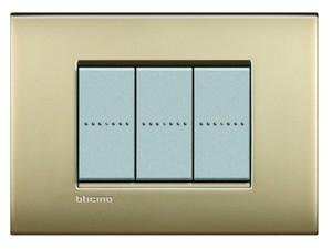 Bticino Livinglight lnc4807of���ll-placa Air 7�m oro