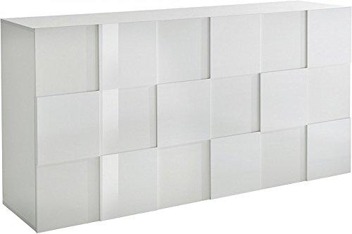Generic Sideboard ANBAUWAND Wohnzimmer WOHNWAND Weiß Hochglanz Neu 816726