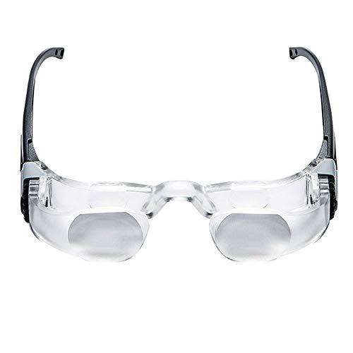 Vergrößerungsglas mit Brille, optische Linse mit HD-Acrylglas, alter Mann mit Vergrößerungsglas, Sichthilfe mit Brille, Angel-Teleskop (Color : MYOPIA)