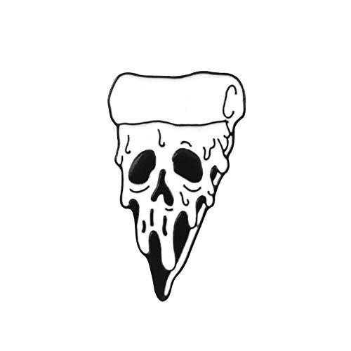 Skelett Punk Brosche Rose Schädel Kaffeekanne Pizza Schleim Japanischen Samurai Ninja Emaille Pin Denim Leder Abzeichen Neo-Gothic Schmuck, 3,0 * 2,8 CM (Herr 8 Kaffeekanne)
