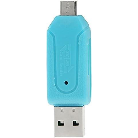 Lettore di Schede 2-in-1 USB e micro-USB OTG [on the go] compatibile con SD e Micro-SD Scheda di memoria per Android, Handy, PC