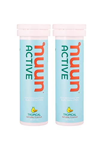 nuun hydration Sport For Exercise isotonisches Getränk mit Elektrolyte Brausetabletten 10 Tabs für 10 x 500 ml Getränk Tropical Fruit, 1er Pack (1 x 55 g) (Tabs Nuun)