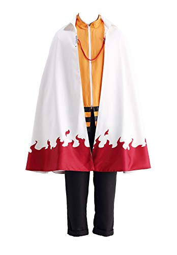 CHIUS Cosplay Costume Hidden Leaf Village Nanadaime Hokage Cloak Ver 11 (Uzumaki Chronicles 2)