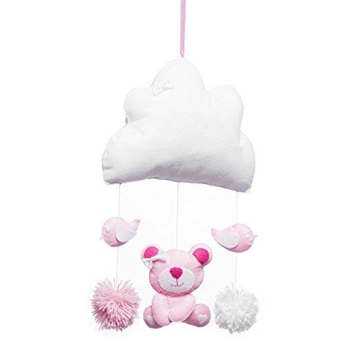 Callyna ® - Guirlande bébé à suspendre, décoration chambre bébé Nuage Ourson. Rose Fuchsia DIY (Rose Nuage Le)
