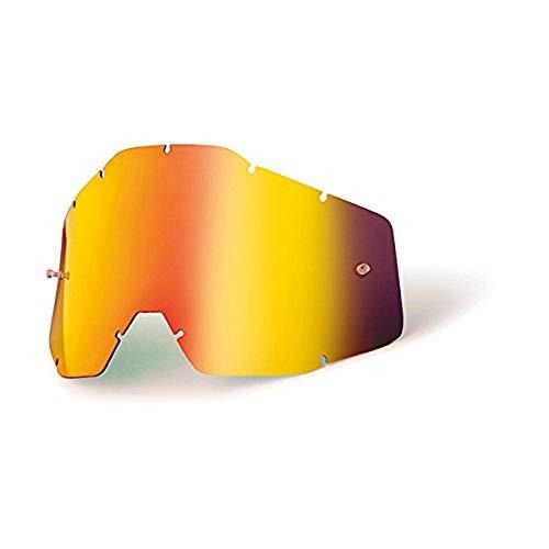 100% RACECRAFT/ACCURI/STRATA Ersatzlinse Spiegel/Smoke Anti-Nebel, Rot , Größe One Size